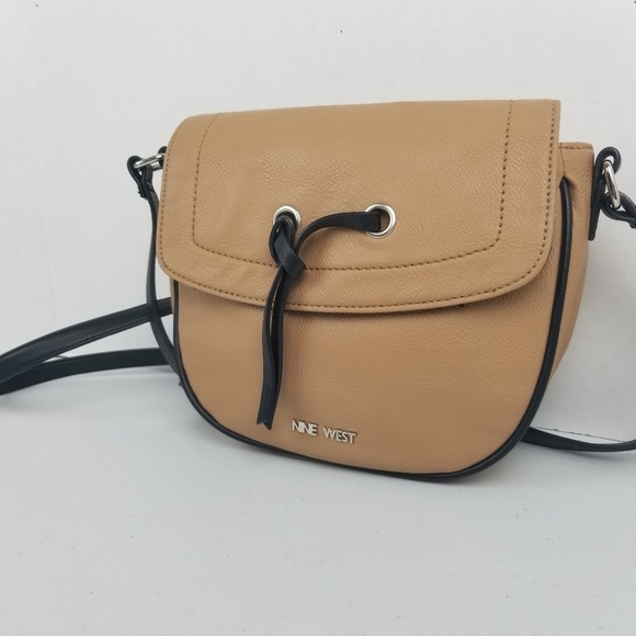 Nine West Handbags - 3/$25 Nine West Small Crossbody Satchel Bag Tan
